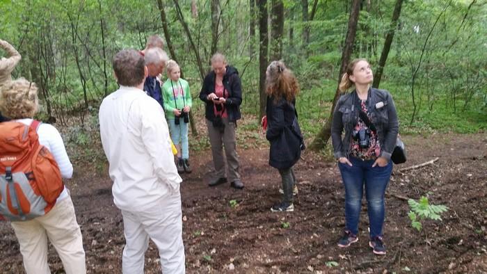 Deelnemers groeps vogelexcursie Drentsche Aa vogelweek 2016