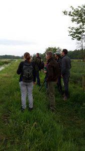 Deelnemers vogelexcursie Noordsche veld vogelweek 2016
