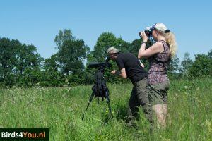 Harry en Andrea vogelexcursie Drenthe