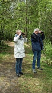 Clients birdwatching excursion Fochteloërveen