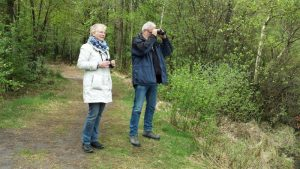 Birdwatching tour Fochteloërveen participants