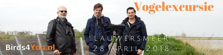 Vogelexcursie Lauwersmeer 28-04-2018