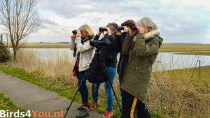 Vogelexcursie Lauwersmeer deelnemers