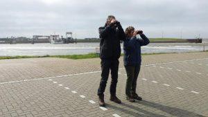 Birding excursion participants Lauwersmeer Friesland