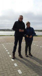 Birdwatching excursion participants Lauwersoog harbor