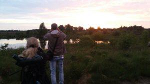Nachtzwaluw excursie Andrea bij het ven