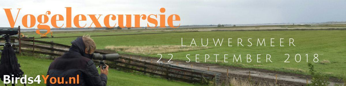 Vogelexcursie verslag Lauwersmeer 22 september 2018