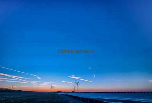 Blauwe hemel Oosterscheldekering