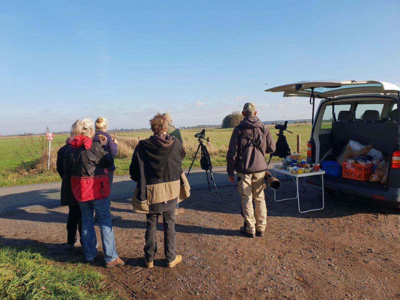 Kraanvogelexcursie 2018 Honderden Kraanvogels tijdens de lunch