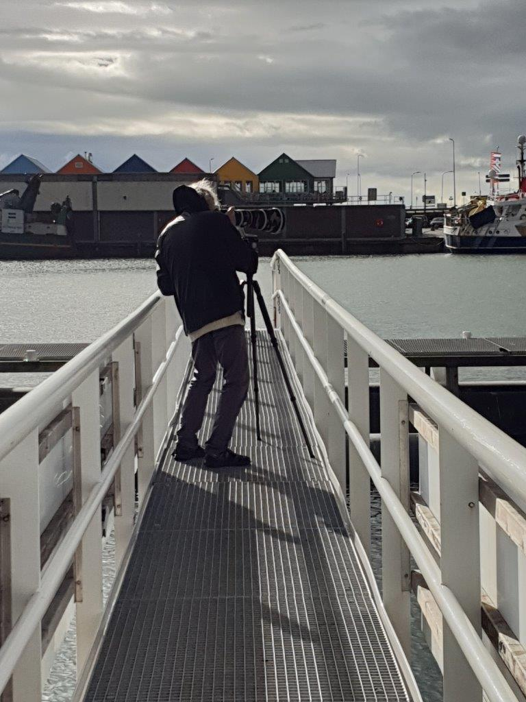 Vogelexcursie Lauwersmeer 2018 Hans in actie