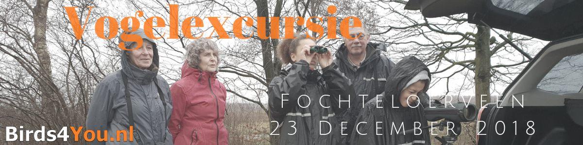 Vogelexcursie Fochteloërveen 23 december 2018
