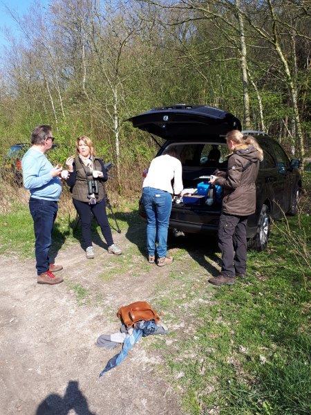 Vogelexcursie Drents-Friese Wold Koffie tijd