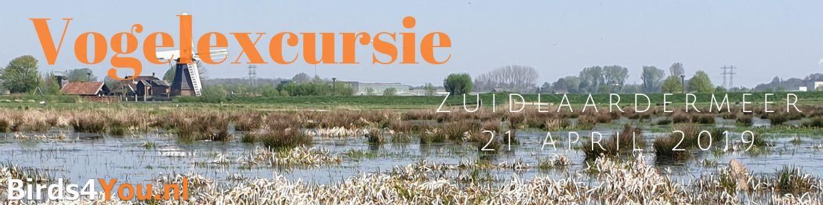 Vogelexcursie Zuidlaardermeer 21 april 2019