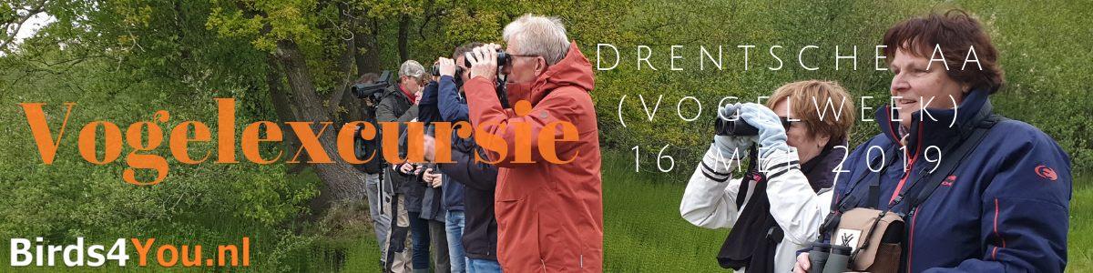 Vogelexcursie Drentsche Aa 16 mei 2019