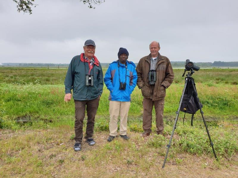 Deelnemers vogelexcursie Fochteloërveen