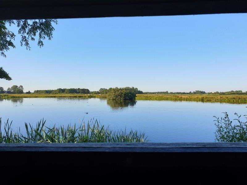 Uitzicht vanuit de vogelkijkhut