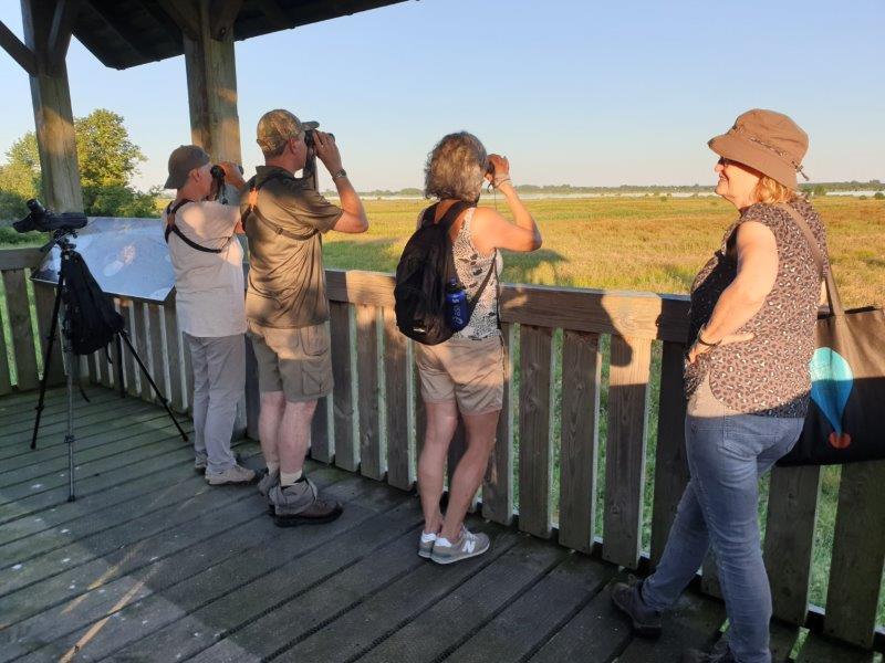 deelnemers in de uitkijktoren