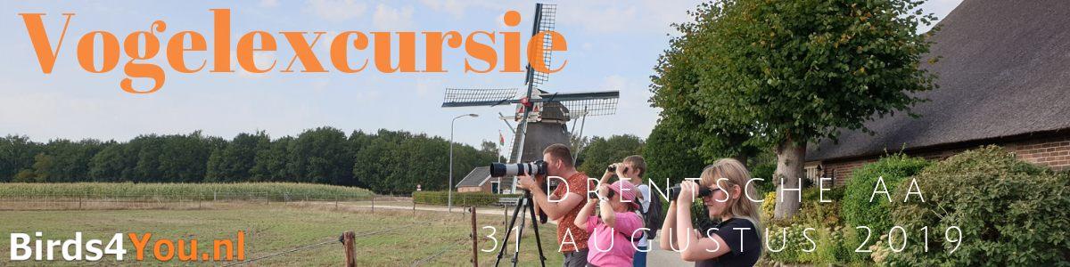 Vogelexcursie Drentsche Aa 31 augustus 2019