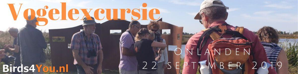 vogelexcursie Onlanden 22 september 2019