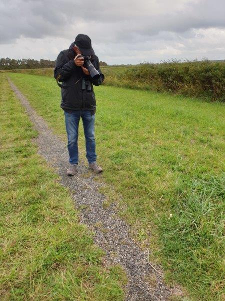 Gerard fotografeert Parelstuifzwammen