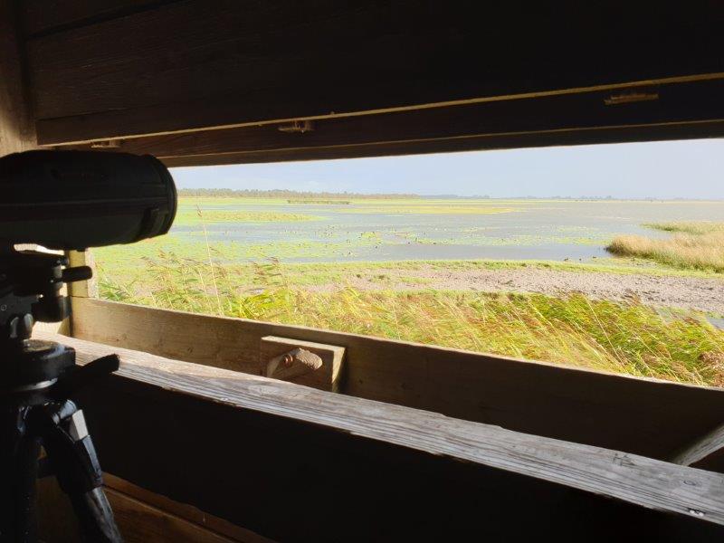 Uitzicht Jaap Deensgat vanuit de hut
