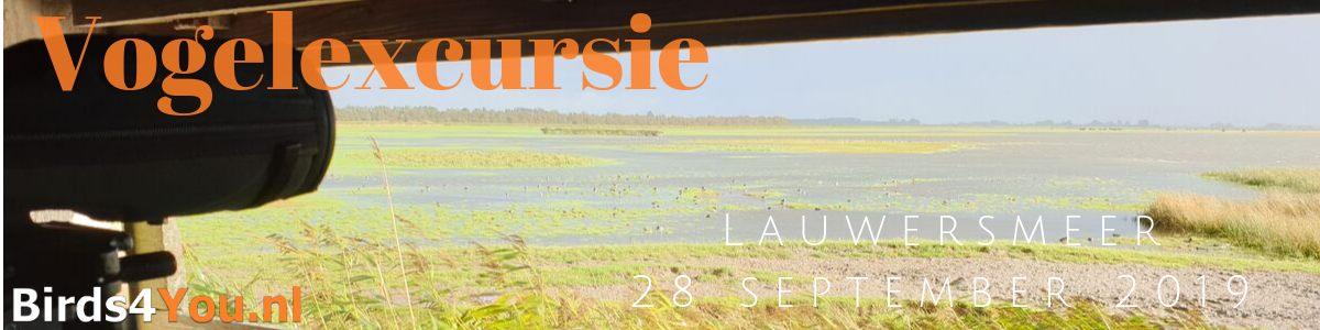 vogelexcursie Lauwersmeer 28 september 2019