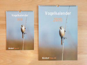 Vogelkalender 2020 A4 en A3 Voorzijde