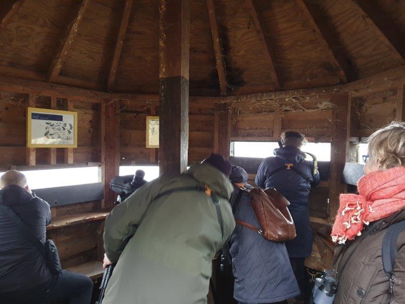 In de hut