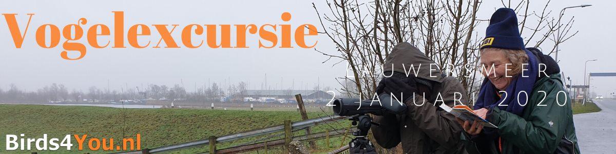 Vogelexcursie Lauwersmeer 2 januari 2020