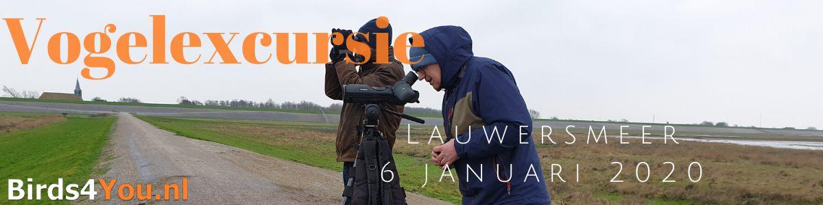 Vogelexcursie Lauwersmeer 6 januari 2020