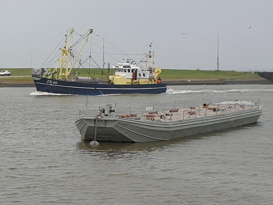 Sternstee en vissersboot