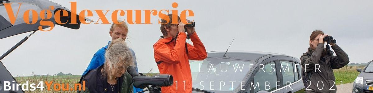 Vogelexcursie Lauwersmeer 11 september 2021