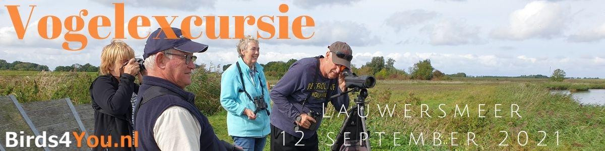 Vogelexcursie Lauwersmeer 12 september 2021
