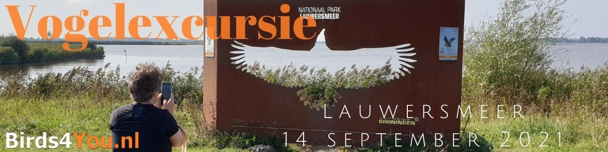 Vogelexcursie Lauwersmeer 14 september 2021