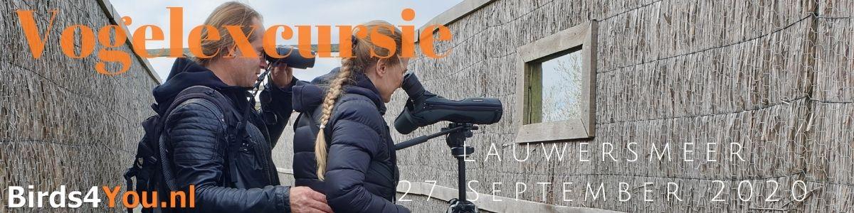 Vogelexcursie Lauwersmeer 27 September 2020