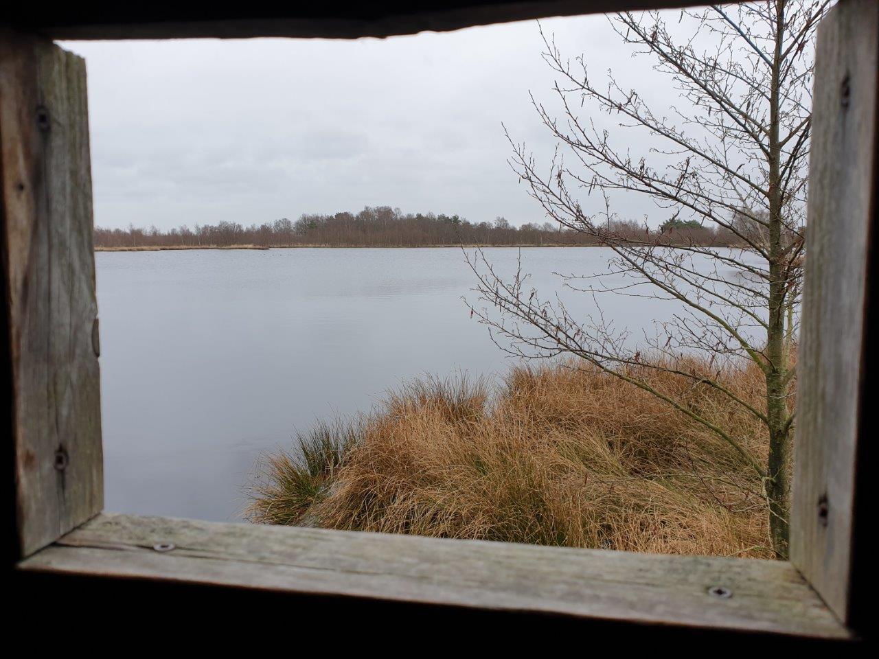 Uitzicht vanuit de hut