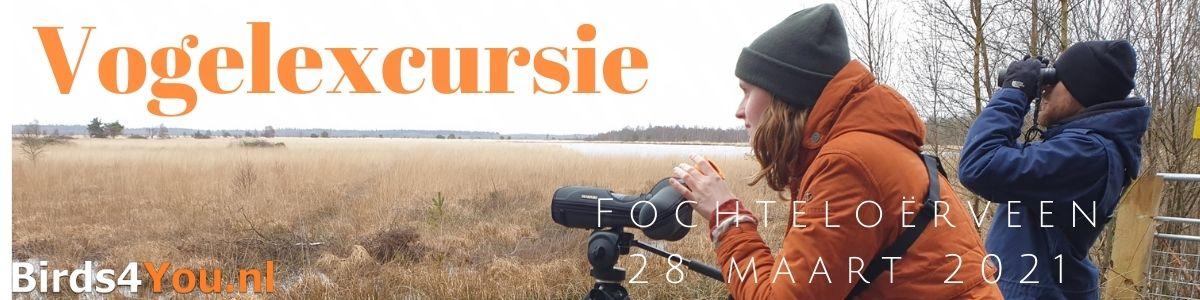 Vogelexcursie Fochteloërveen 28 maart 2021