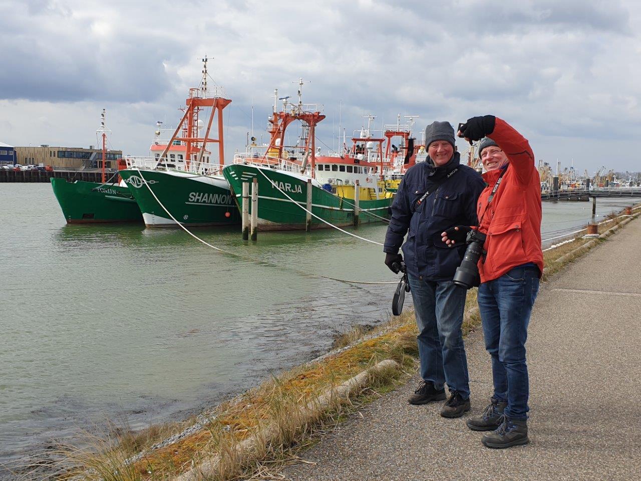 Vogelexcursie Lauwersmeer Selfie in de haven