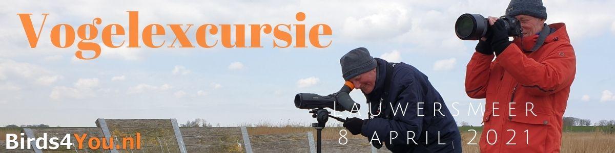 Vogelexcursie Lauwersmeer 8 april 2021
