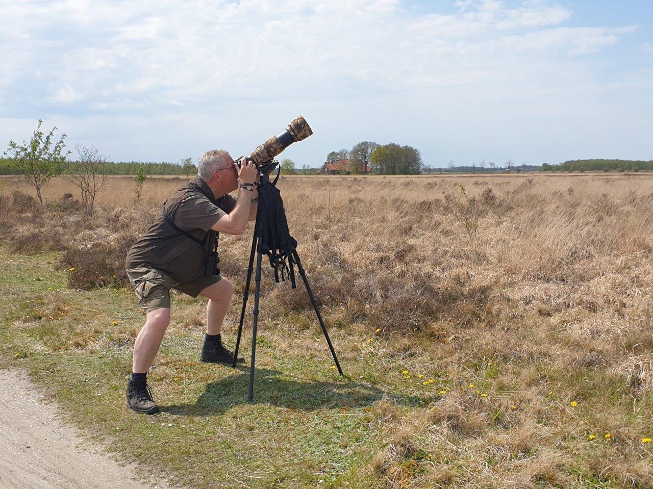 Rik fotografeert Veldleeuwerik