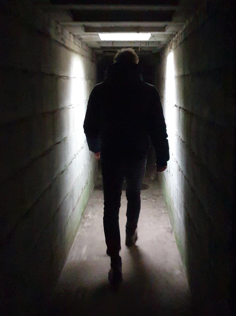 deelnemer in de tunnel