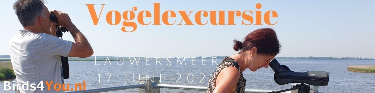 Vogelexcursie Lauwersmeer 17 juni 2021