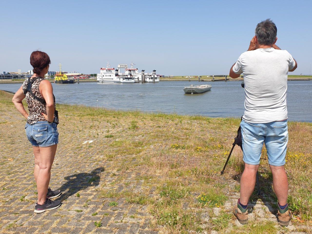 in de haven van Lauwersoog