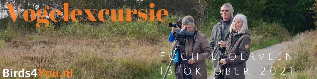 Vogelexcursie Fochteloërveen 13 oktober 2021