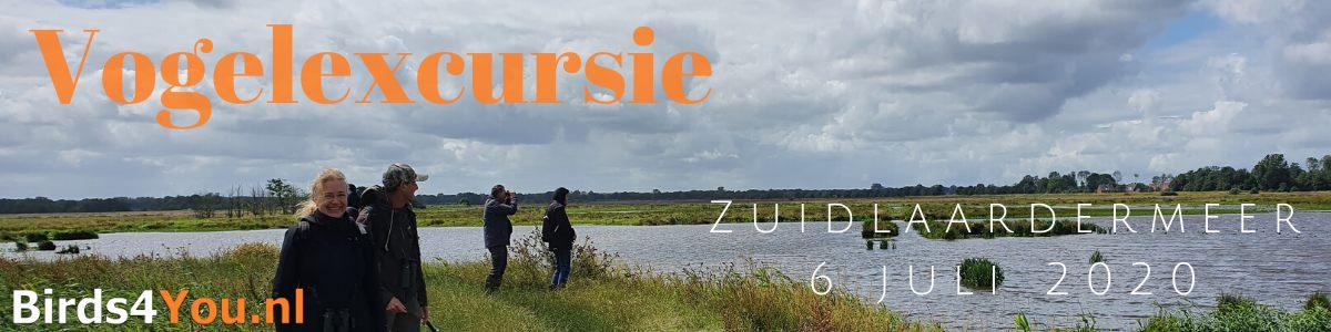 Vogelexcursie Zuidlaardermeer 6 juli 2020