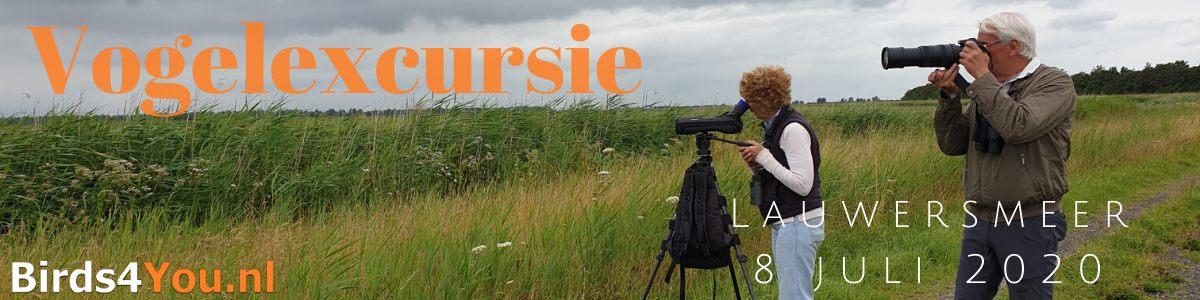 Vogelexcursie Lauwersmeer 8 juli 2020
