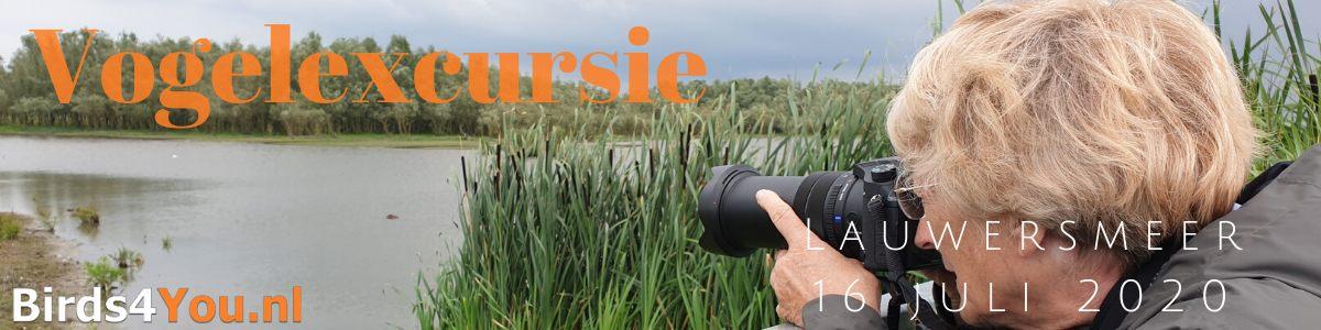 Vogelexcursie Lauwersmeer 16 juli 2020