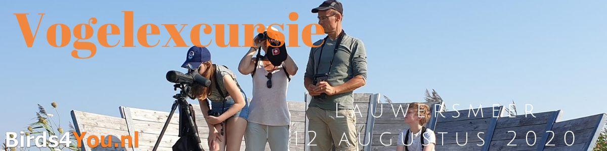 Vogelexcursie Lauwersmeer 12 augustus 2020