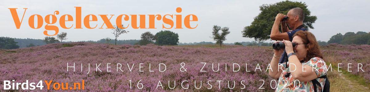 Vogelexcursie Hijkerveld & Zuidlaardermeer 16 augustus 2020