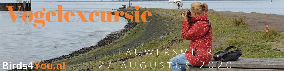 Vogelexcursie Lauwersmeer 27 augustus 2020
